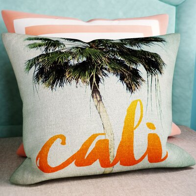 California Hotel Throw Pillow Size: 16 H x 16 W x 4 D