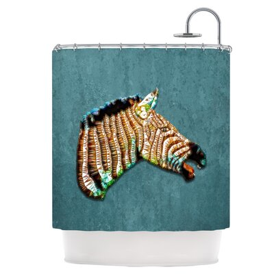 Laughing Zebra Shower Curtain