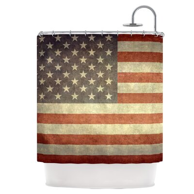 Flag of US Retro Shower Curtain
