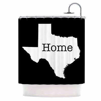 Texas State Outline Shower Curtain