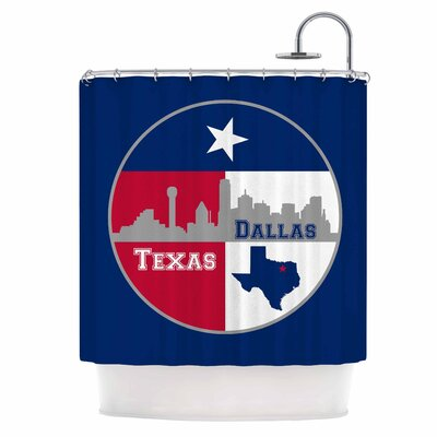 Dallas Texas Shower Curtain