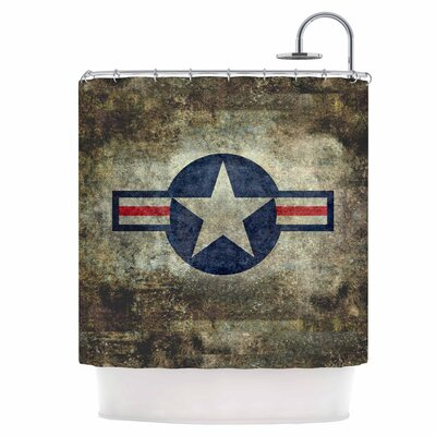 USAF Vintage Retro Style Round Shower Curtain