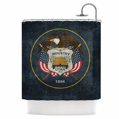 Vintage Utah Shower Curtain