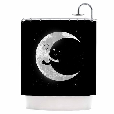 Moon Hug Shower Curtain