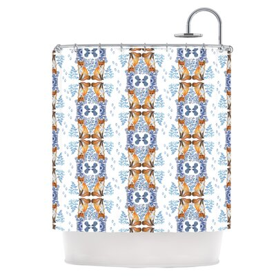 Fox in Snow Shower Curtain