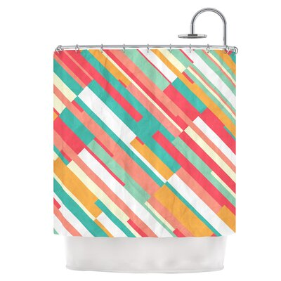 Droplines Shower Curtain