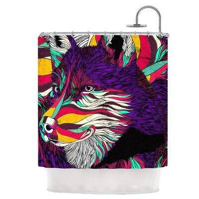 Color Husky Shower Curtain