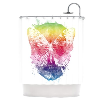 Butterfly Skull Shower Curtain