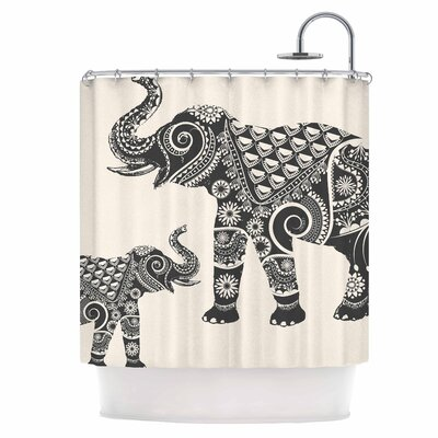 Indian Elephant-Boho Shower Curtain