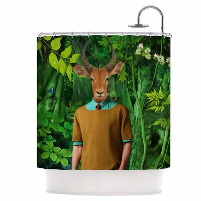 Into The Leaves Shower Curtain