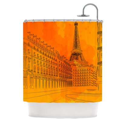 Parisian Sunsets Shower Curtain