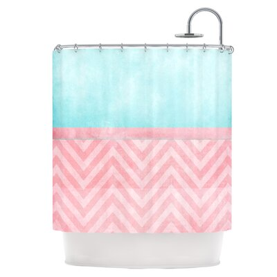 Light Chevron Shower Curtain