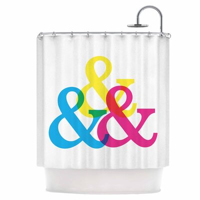 CYMK Ampersands Shower Curtain