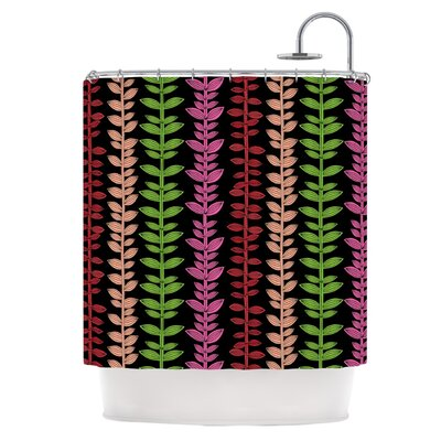 Vine and Leaf Shower Curtain