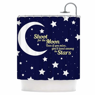 Moon & Stars Quote Shower Curtain