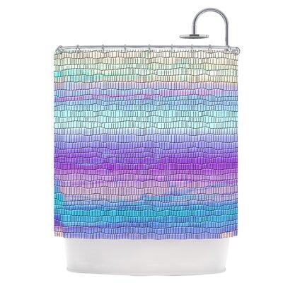 Drip Dye Cool Strid Shower Curtain