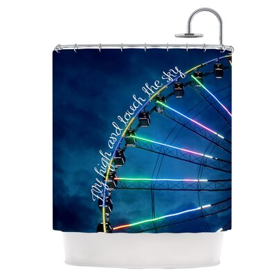 Fly High and Touch The Sky Shower Curtain