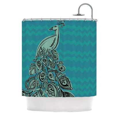 Peacock Blue II Shower Curtain