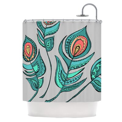 Feathers Gray Shower Curtain