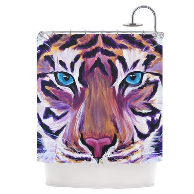 Purple Tiger Shower Curtain