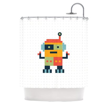 Robot Shower Curtain