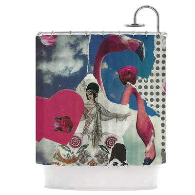 Flamingo Attack Shower Curtain