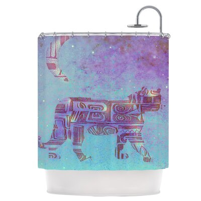 Panther at Night Shower Curtain
