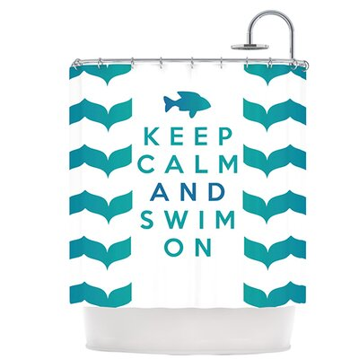 Keep Calm and Swim On Shower Curtain