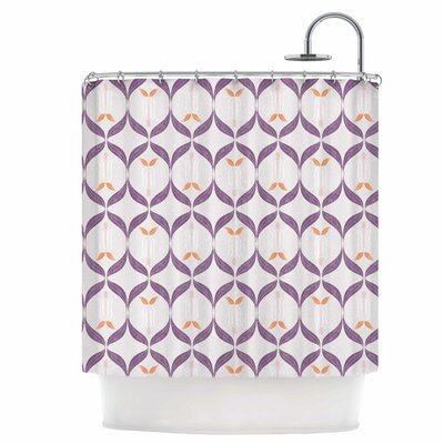 Textured Modern Reminisence Shower Curtain