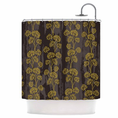 Textured Floral Elegance Shower Curtain