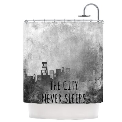 The City Never Sleeps Shower Curtain