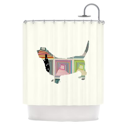 Basset Shower Curtain