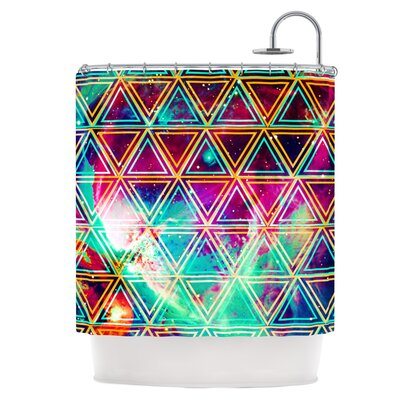 Neon Geo Galaxy Shower Curtain