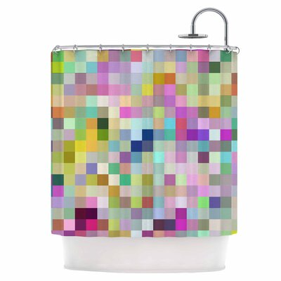Colorful Pixels Shower Curtain