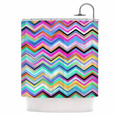 Colorful Rainbow Chevron Shower Curtain