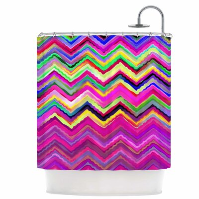 Colorful Chevron Shower Curtain