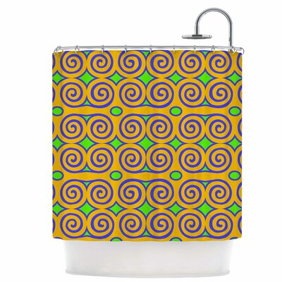 Locked Rams Horns-Clear Day Shower Curtain