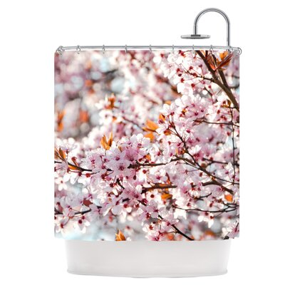 Flowering Plum Tree Shower Curtain