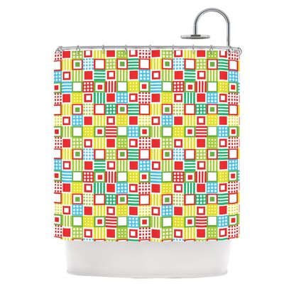 Colorful Check Shower Curtain