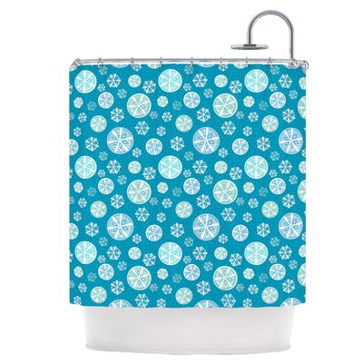 Snowflake Sky Shower Curtain