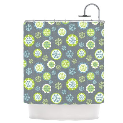 Snowflake Slate Shower Curtain