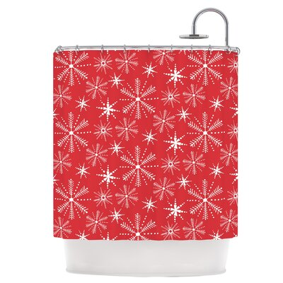 Snowflake Berry Shower Curtain