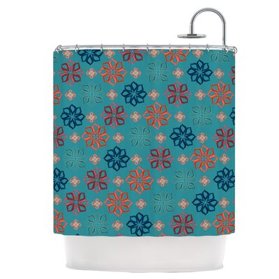 Turquoise Mini Shower Curtain