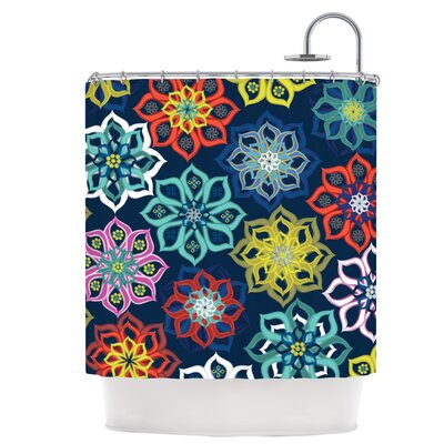 Multi Flower Shower Curtain