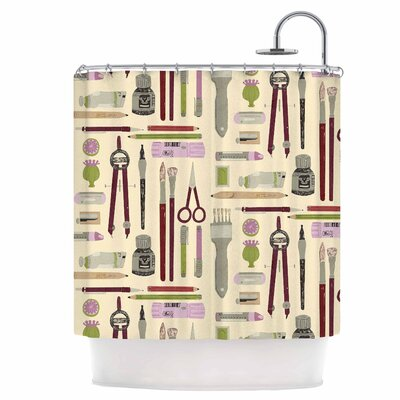 Art Supplies Shower Curtain