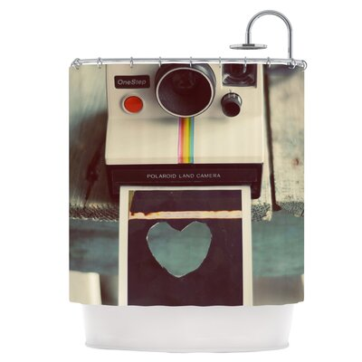 Polaroid Love Shower Curtain