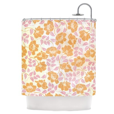Sun Kissed Petals Shower Curtain