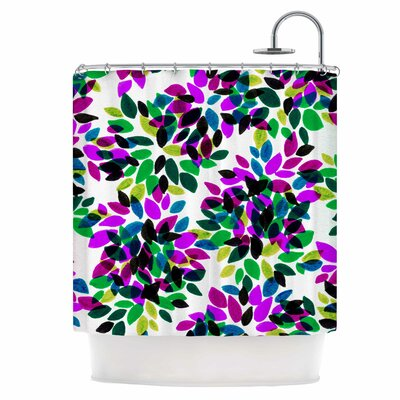Dahlia Dots II Shower Curtain