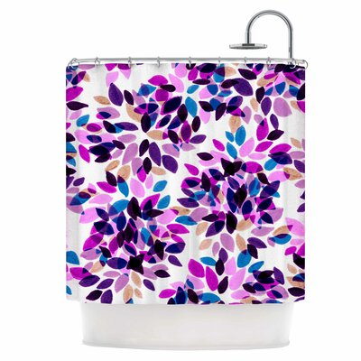 Dahlia Dots III Shower Curtain