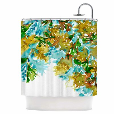 Floral Cascade IX Shower Curtain
